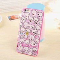 2015 Tpu Rilakkuma Bear Mobile Phone Case Lovely For i phone6