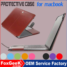 """Latest High Quality PU Leather Laptop Sleeve Bag Case Cover For Apple Macbook Pro 13"""" A1278 PU Leather Laptop Bag For macbook"""