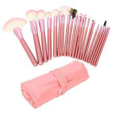 22pcs Professional Cosmetic Makeup Brush Set/Kit with Pink Bag Pink