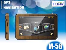 4.3inch MediaTek wood body material gps navigation for car m-58
