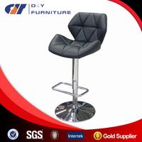 Comfortable bar stool high chair , Adjustable Swivel Modern metal bar stool with cushion