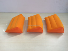 orange small size inflatable wedge shape pillow