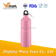 Colorful aluminum material sports water bottle