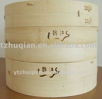cooking utensils of natural bamboo steamer