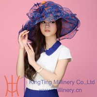 Wholesale Fashion Sexy Organza Church Hats for young girls