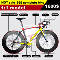 695 795 Carbon Complete Road Bike Bicycle Design Carbon Bike With groupset wheel bar stem saddle free shipping