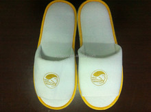 best-selling hotel miscellaneous fleece embroidery slipper with non-woven bag