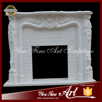 Hand Maded Indoor Decorative Marble Fireplace