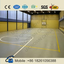 2015 new! High quality easy DIY wood grain basketball court