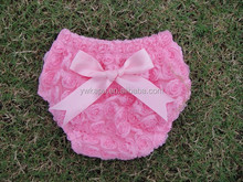 Rosettes Bow Bloomers for Infant &Toddler Cute Kids diaper cover Bloomers