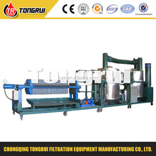 waste lube oil filter system, waste oil recycling machine