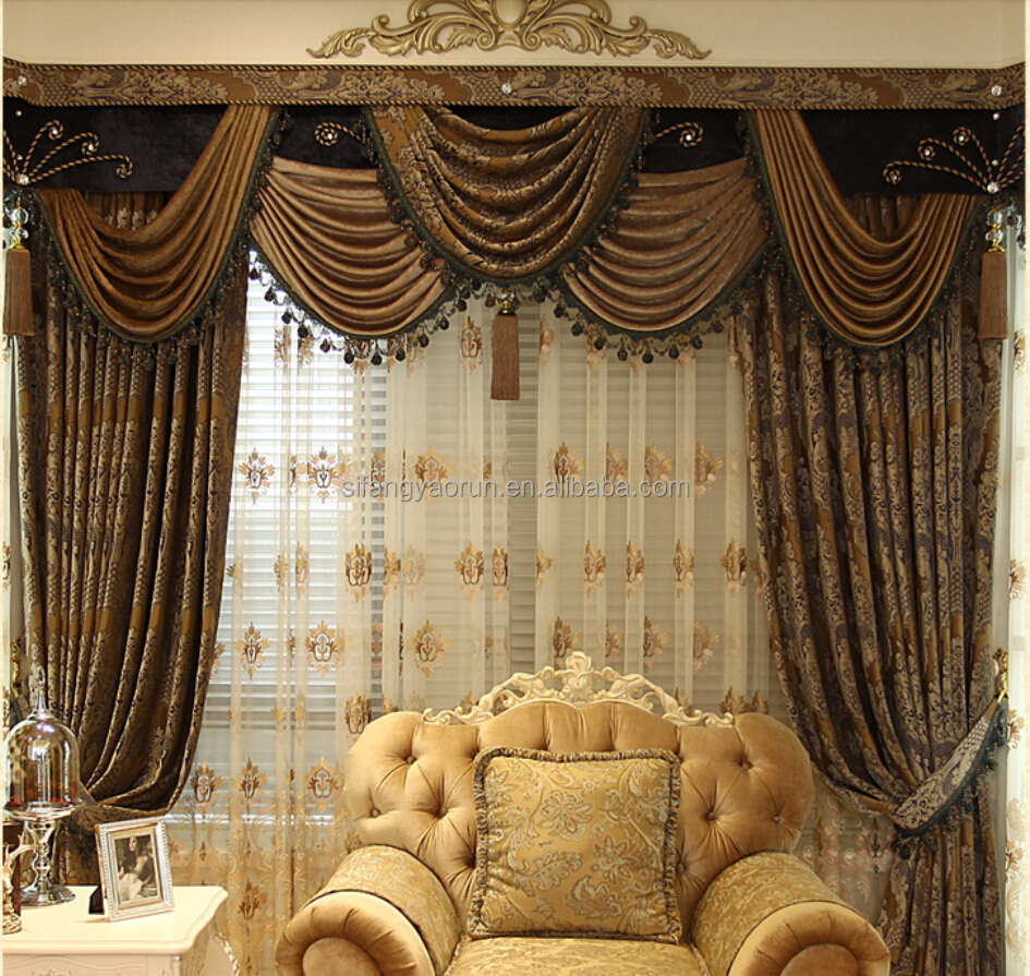 New style european design elegant polyester window arabic curtains for home buy arabic - Curtain new design ...