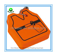bulk polyurethane 7.2x6.2x2cm PU vest floating keychain/custom printed PU vest floating keychain/PU toy vest floating keychain