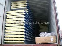 Zhongjie wall /roofing steel color 50-200mm PU sandwich Panel/CE certificate Insulated pu sandwich panel