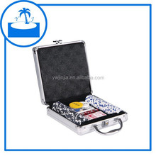 100pcs Striped Dice Poker Chip game Set in deluxe silver aluminium case
