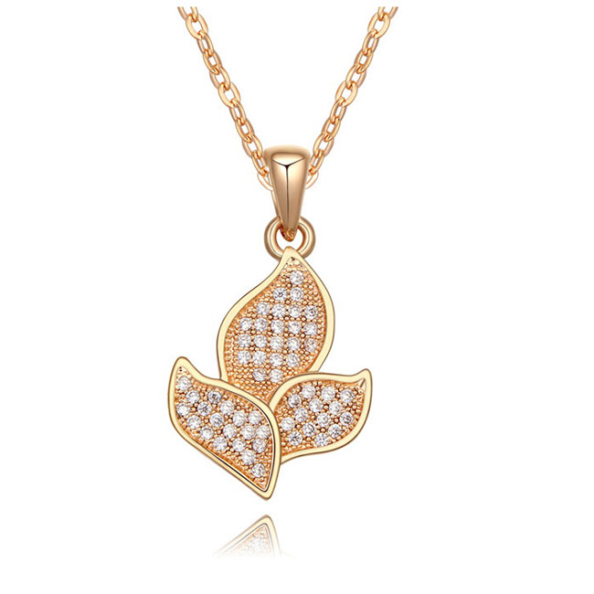 gold pendant necklace fashion plain western cross