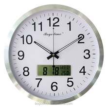 Multifunctional Lighted LED wall clock with Calendar