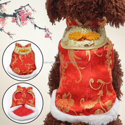 Chinese New Year Pet Dog Clothes Tang Suit Wholesale