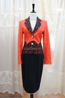 Ladies elegant formal uniform two-piece long skirt suit AS43#
