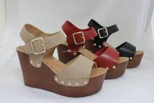 latest Ladies studs wedge sandal