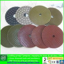 resin wet/dry polishing pads for hand grinder - grinding pad for stone