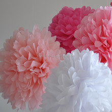 16inch 40cm Fiesta Tissue Paper Pom-Poms Flower Wedding Party decorations for sale