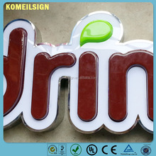 china hot sale 3d plastic led letter acrylic chromed letters