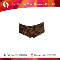 100%cotton high quality huoyuan england hot young ladies photo lingerie sexy lace underwear boxer