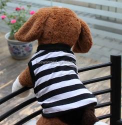 pet clothes for dog simple dog tank top stripe dog shirt