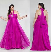 Halter Top Spaghetti Strap Peach Color Big Size Women Dress Evening dress