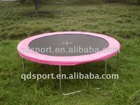 pink 8ft trampoline without safety net