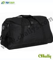 Large capacity black nylon luggage bag