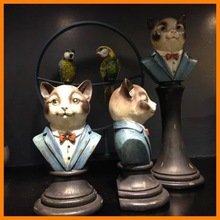 Serves American country style gentleman cat bookend resin ornaments crafts home decor wholesale