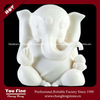 Carved Marble Elephant Buddha Statues