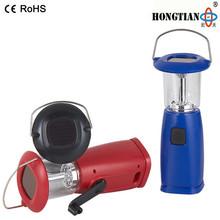 emergency led portable solar lantern with hand crank