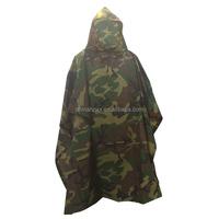 Military Style Ripstop Nylon Rain Poncho