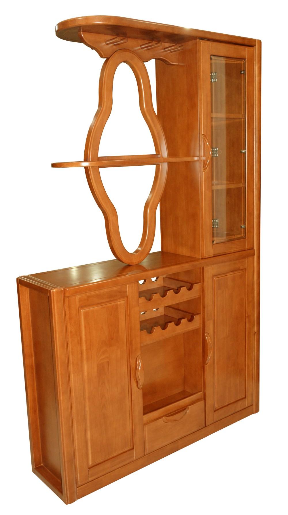 Moderne massief houten meubels woonkamer wijn vitrinekast divider ...