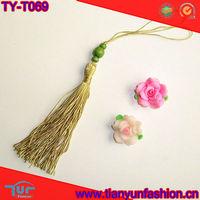 polyester beads drapery car tassel for hanging