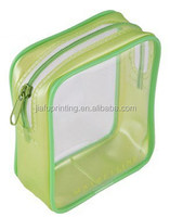 Customized Clear PVC ziplock bag zipper bag stand up pouch for cosmetics