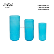latest antique glass flower vases, beautiful cylindrical flower vase ,colorful glass vase for interior design