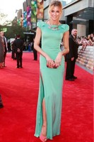 Sexy Mint Side Slit Evening Dress Australian Logie Awards 2012 Celebrity Gowns