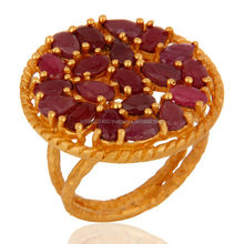 Fashion Natural Ruby Gemstone Ring, 925 Sterling Silver Ruby Ring Jewerly Wholesale Price