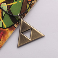fashion necklace the Triforce pendant, the game The Legend of Zelda for Triforce of the Gods logo pendant(SWTMD1490)