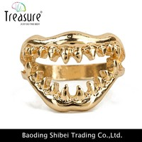 Shark Tooth Design Rings personalized Funny 2015 New promotions woman brand fashion rings punk rock accessories