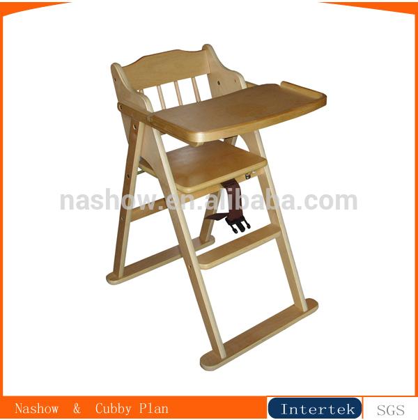 El beb de madera silla alta silla de beb identificaci n for Silla de bebe de madera