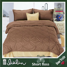 Professional Design Pure Color Series Luxury Bedding Sets 2D Bed Sheet With 100% Polyester Fabric
