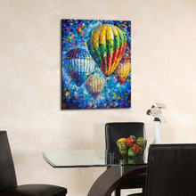 Wonderful Hand-painted Abstract Fire Balloon Oil Painting For Wall Decoration Handmade Abstract Knife Painting For Wall Decor