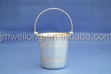 Garden Decoration High Quality Antirust Blue Small Bucket/Garden Metal Flower Pot_Garden Pot bucket