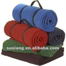 Solid Coral Fleece Blanket