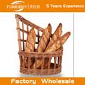 venta caliente de alta calidad de la fábrica al por mayor baratos hermosa rota de mimbre pan francés mostrar cesta